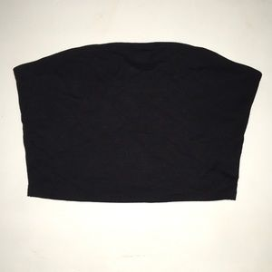 Garage Black Crop Tube Top